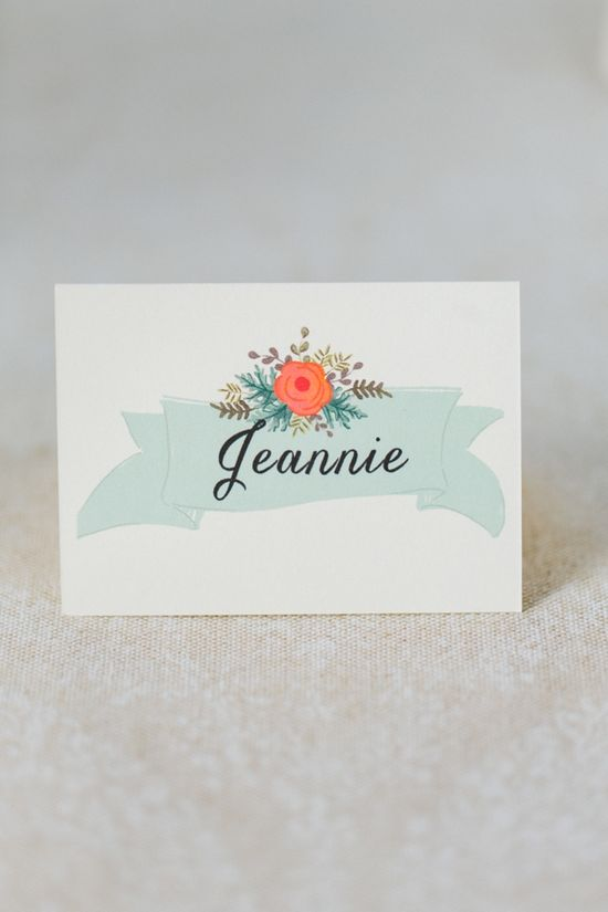 sweet place cards by the first snow www.weddingchicks...