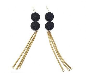 dangly earrings.