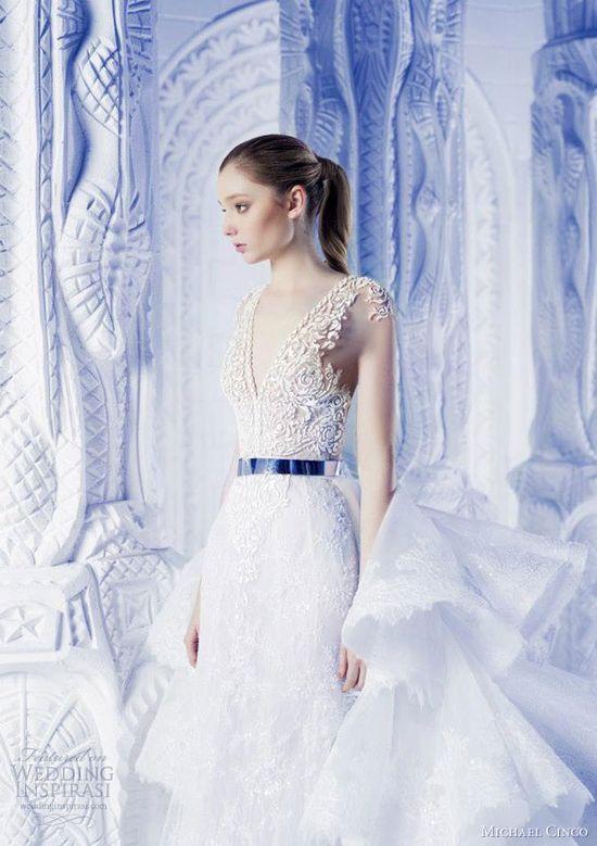 michael cinco 2013 wedding dresses closeup
