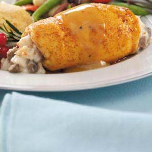 Marsala Crab-Stuffed Chicken Breasts Recipe from Taste of Home