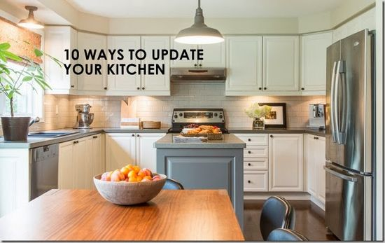 Ten Ways to Update Your Kitchen (Before and After) - decor happy