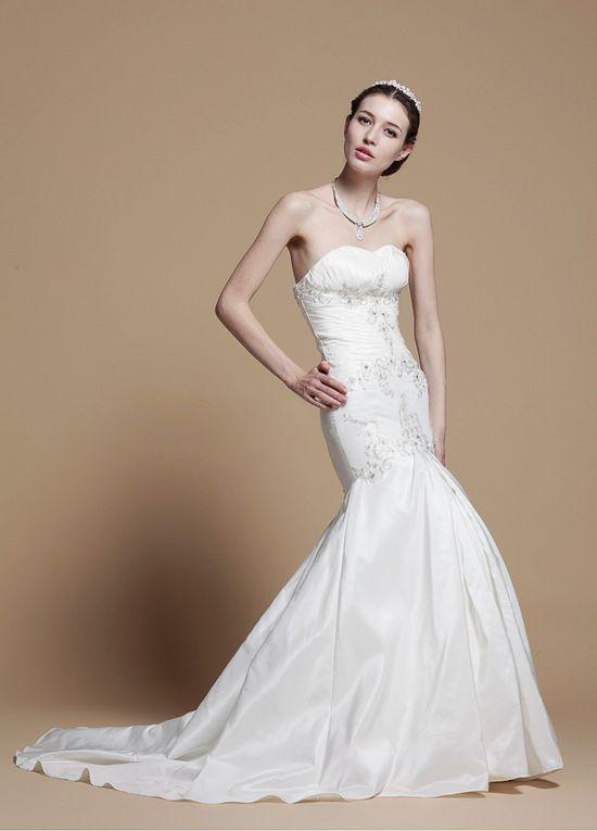 Moderin Strapless Mermaid Taffeta Wedding Dress