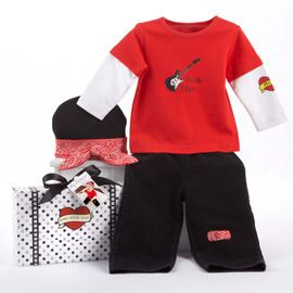 Rock star baby outfit.