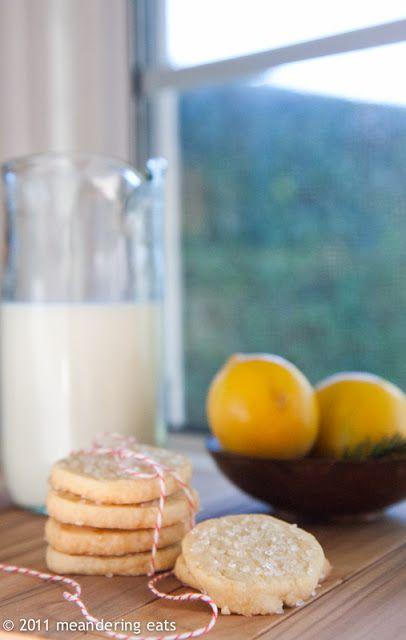 meandering eats: Great Food Blogger Cookie Swap: Meyer Lemon Sables