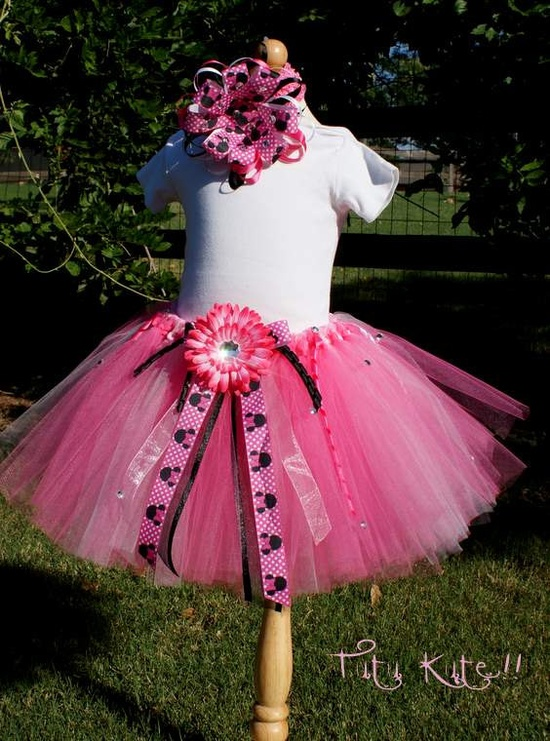 MINNIE MOUSE Inspired PARTY Tutu and Deluxe Minnie Bow