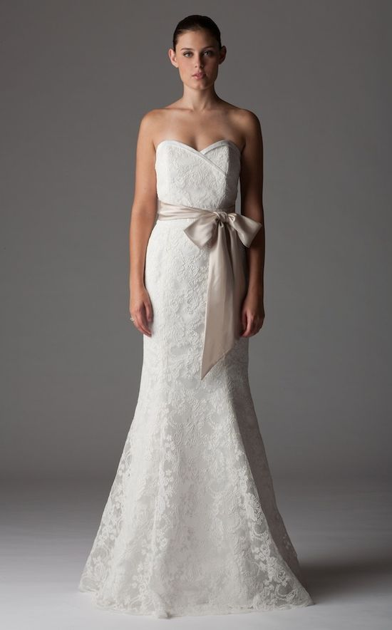Fall 2012 Trend: wedding dresses with sashes