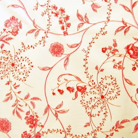Pink and red floral vintage wall paper.