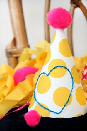 DIY Embroidered Party Hat!