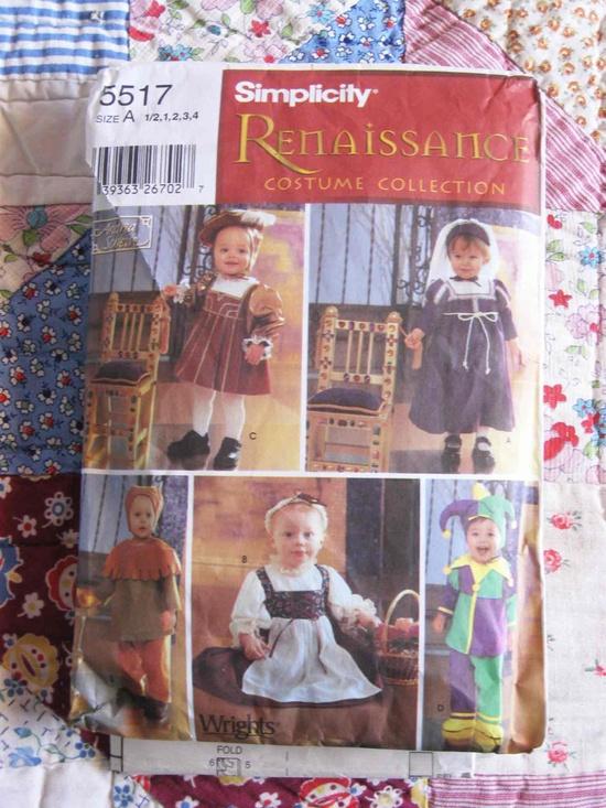 Simplicity Pattern 5517 Renaissance costumes