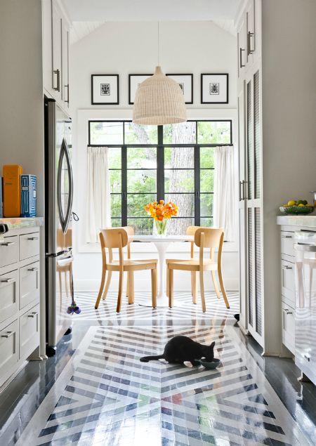 painted floors--tile alternative in kitchen?