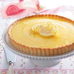 Lemon Tart with Almond Crust  taste of home