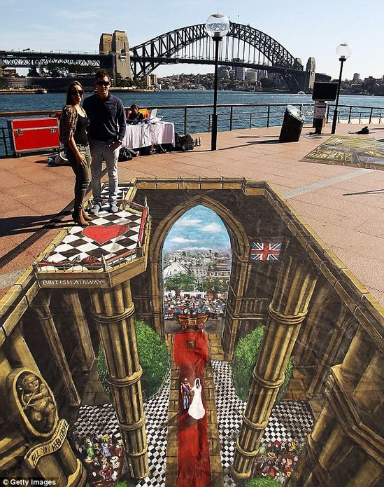 ~Royal Wedding 3D Pavement Art~