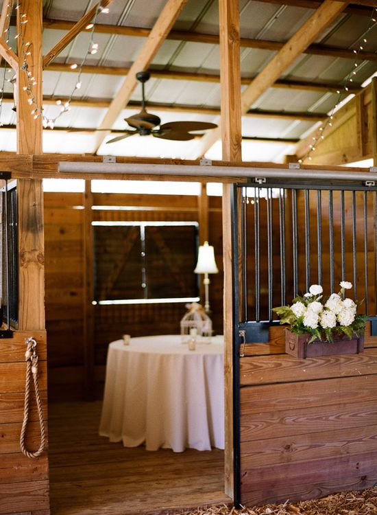 gorgeous rustic reception space