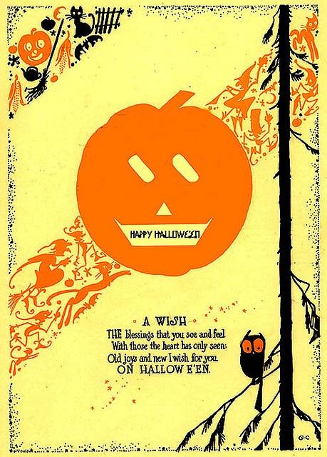 John Martin's Magazine--Vintage Halloween Illustration