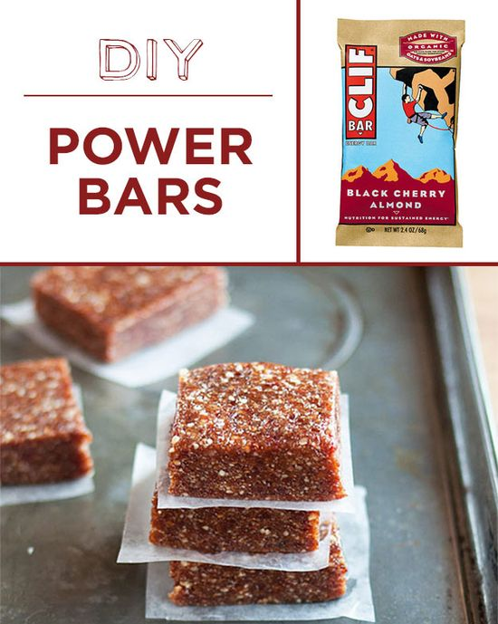 Nuts + dried fruit + dates = easy homemade power bars. Plus 29 other foods to make at home!
