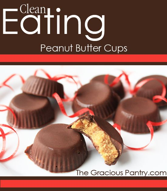 Clean Eating Peanut Butter Cups. #cleaneating #cleaneatingrecipes #eatclean #healthyrecipes #recipes #dessert #dessertrecipes