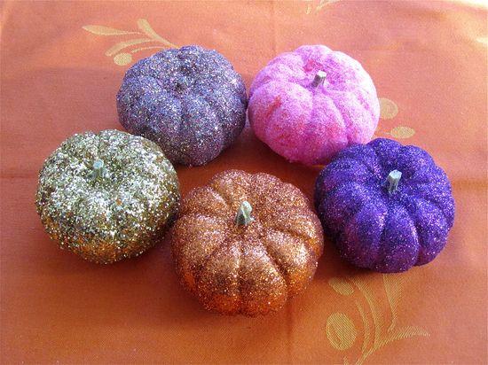 Huckleberry Love: Kids Halloween Activities {Guest Post from Education.com}- Mini Glitter Pumpkins