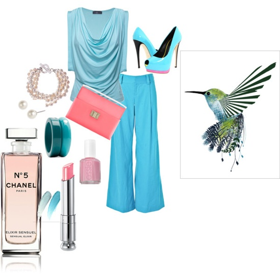 Light Turquise Outfit For Spring.