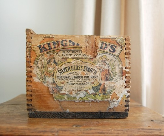 Kingsford's with paper label and dovetail joints