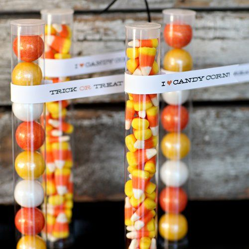 Halloween Gumball Tube - Candy Corn Colors $2.50 {free printable tags}