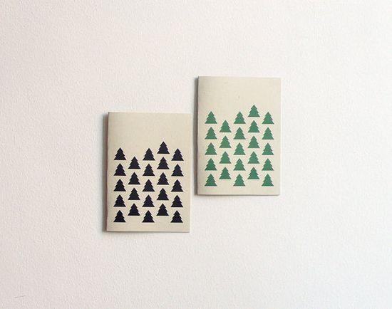 tree pattern cards  set of 2 por 10antemeridiem en Etsy, $7.00