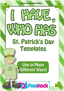 """Classroom Freebies: """"I Have, Who Has"""" St. Patrick's Day Game Templ"""