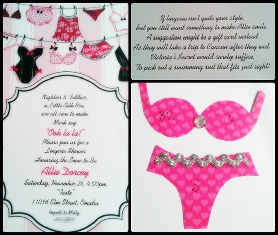 bachelorette invitation for @Allison Rice Dvorak.