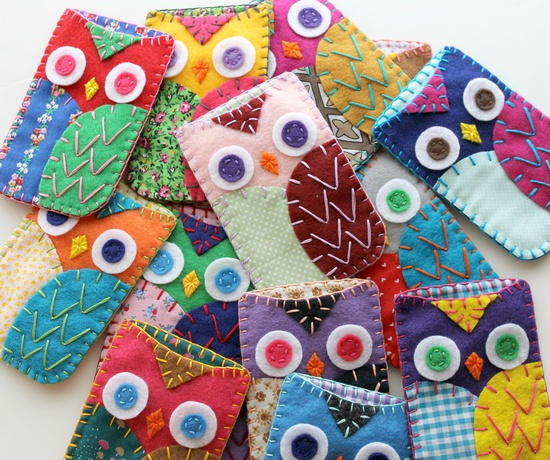 Eco Felt Owl Cell Phone Cases, via Etsy