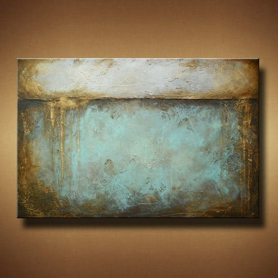 Abstract Painting with Heavy Texture  24 x 36  by BrittsFineArt