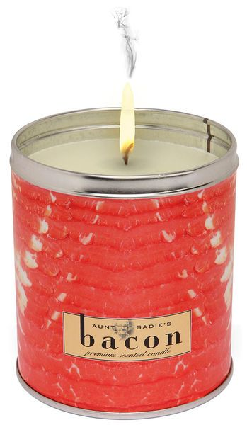 Bacon Candle!!!!!!!!!!!!!!!! I HAVE TO HAVE THIS!!!!!! :D