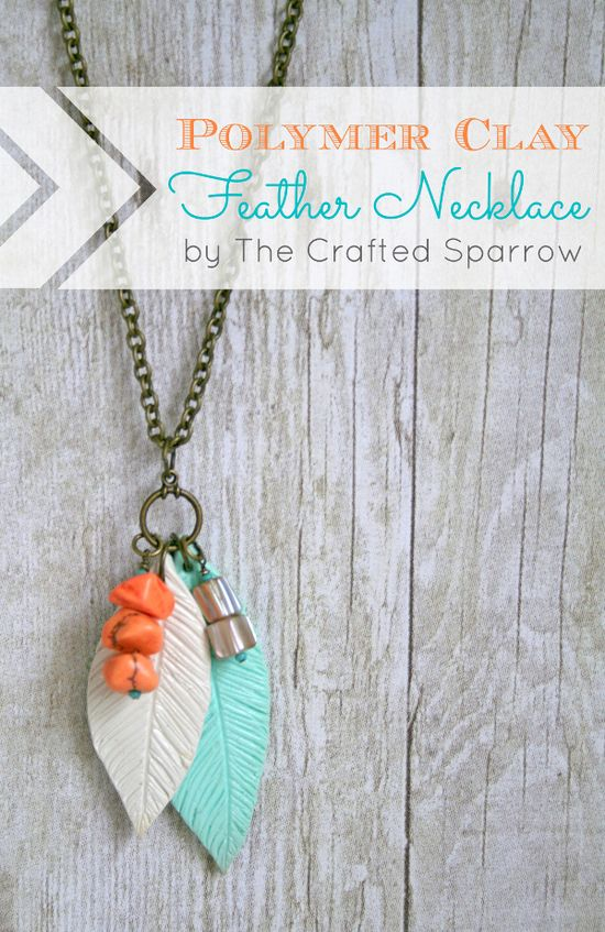 Polymer Clay Feather Necklace. Use filigree feathers or leaves and do a faux cloisonne. Aw yeah.
