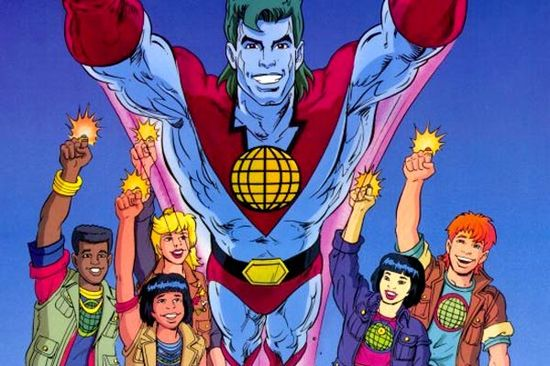 Captain Planet he's our hero, gonna take pollution down to zero!