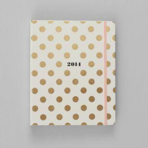 kate spade new york 2014 17 Month Agenda, Gold Dot