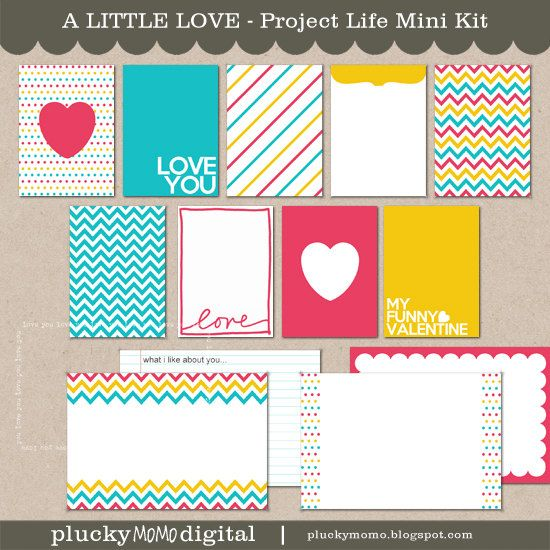 A LITTLE LOVE Journaling Cards for Scrapbooking or Project Life