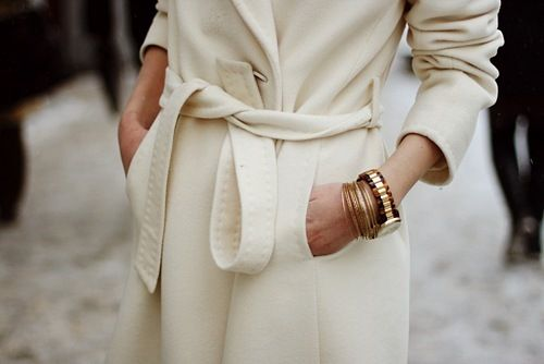 white + belted