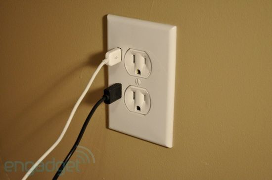 Outlet with USB chargers