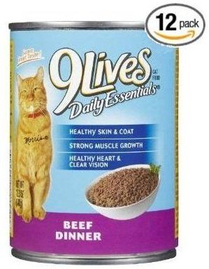 9Lives Beef Dinner (Pack of 12) - Great food at a great price.