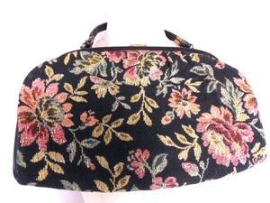 TAPESTRY Floral Print Handbag Purse Carpet Bag