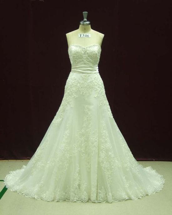 Lace Wedding Dress Bridal Gown Dress with French Lace by WeddingDressFantasy, $739.00  #Lace #Trumpet #Wedding #Dress #Bridal #Gown