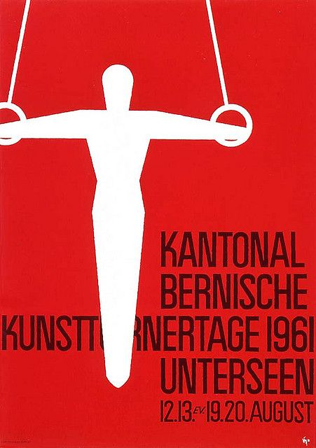 Swiss sports poster (1961) from Swiss Graphic Design by Alki1, via Flickr