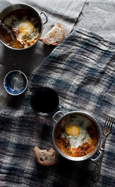 Baked Eggs by Little Upside Down Cake, via Flickr