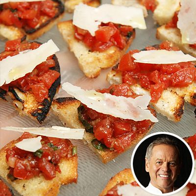 Summer Entertaining: 7 Make-Ahead Appetizers from Celeb Chefs. @Wolfgang Puck's Spicy Tomato and Basil Bruschetta.