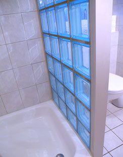 glassteinwand glasbaustein leuchtwand glasziegel bauholzmbel - Dusche Mauern Glasbausteine
