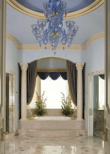 Luxury Bathroom Interior Design by HalehDesign, via Flickr