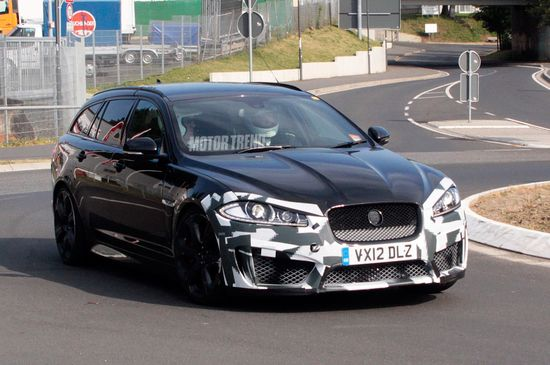 Spied: Jaguar XFR-S Wagon Shows Its Face for the First Time - MotorTrend WOT