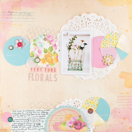 A scrapbook page + tutorial by @Melissa Squires Squires Squires Squires Squires