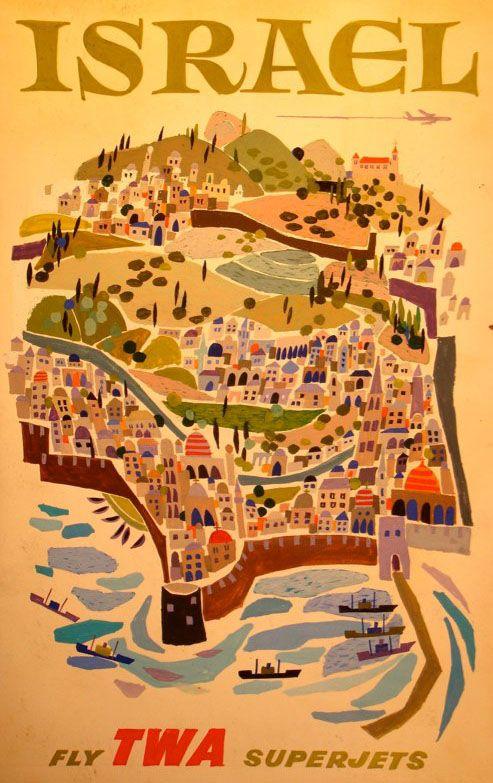 TWA poster by David Klein