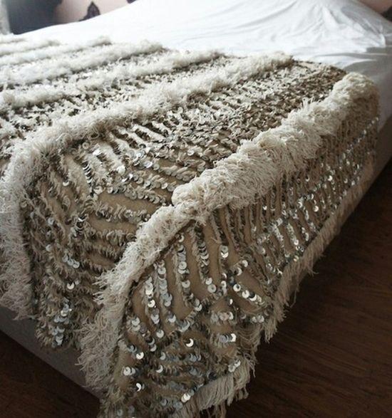 Moroccan wedding blanket.