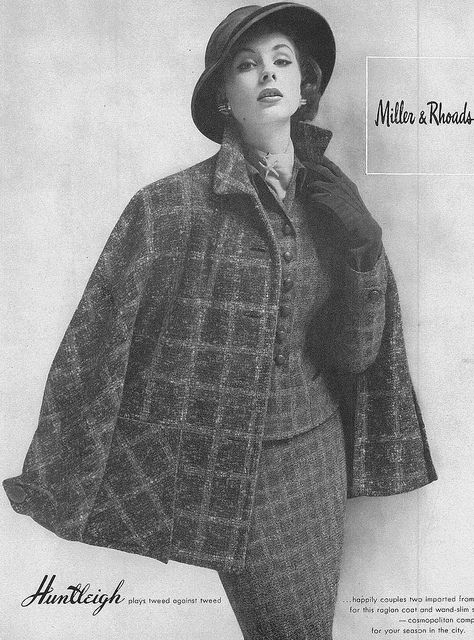 Fantastically stylish tweed layers. #vintage #fashion #1950s #suit #hat