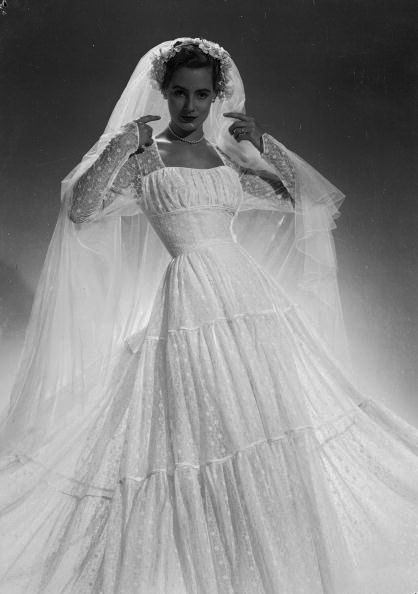 1951 wedding gown modeled by Dovima, via Flickr